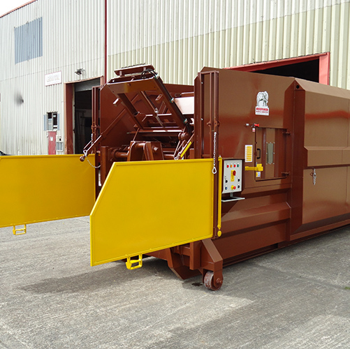 Portable Compactor with end loader