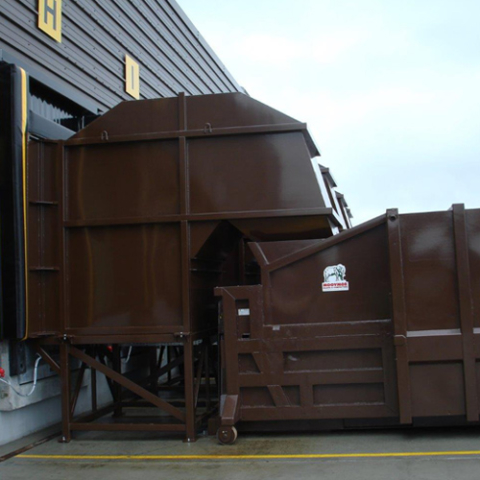 Off Dock Loading System for Portable Compactor