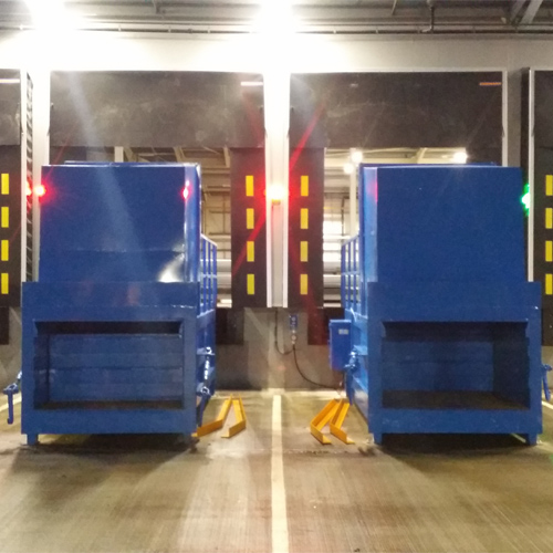 Twin Compactors on Off Dock Loading
